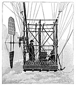 Tissandier electric airship,1880s
