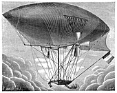 Yon's steam airship design,1886