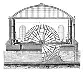 Water wheels at Marly,1850s