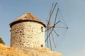 Traditional Greek cloth sailed windmills