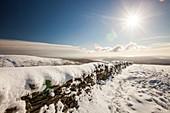 Deep snow on the Fairfield horseshoe
