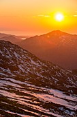 Sunset over Harter Fell,UK