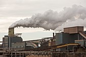 Emissions from a steel works