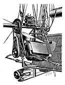 Balloon engine and magneto,illustration