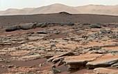 Erosion on Mars,Curiosity rover image