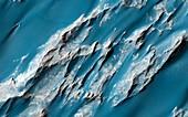Landslides on Mars,satellite image