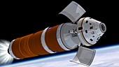 Orion deployment in orbit,illustration