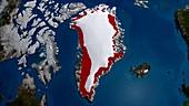 Greenland ice melt,1990