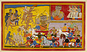 Ravana sets out to battle