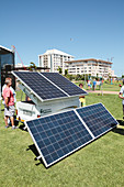Mobile camping solar panels