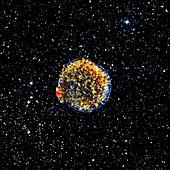Supernova remnant,space telescope image