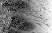 Boulder on Mars,satellite image