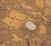 Martian drilling site,Curiosity image