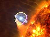 Binary star system nova,illustration