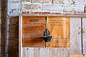 Historic flour mill notice