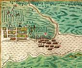 Drake's attack on Saint Augustine,1586