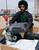 Electronic waste collection,USA