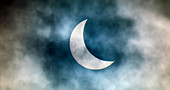 Cloudy solar eclipse,20th March 2015