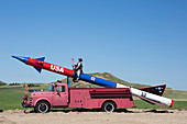 Missile on a fire truck,USA