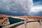 Storm clouds over Glen Canyon dam