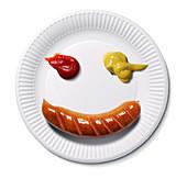 Happy food face,conceptual image
