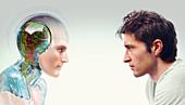 Robot-human evolution,conceptual image