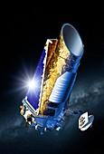 Kepler space telescope,illustration