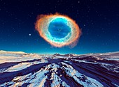 Alien planet and Helix nebula