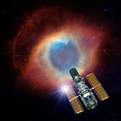 Hubble and Helix nebula,illustration