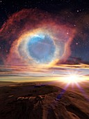 Alien planet and exploding star