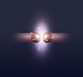 Particle collision creating bosons