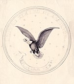Eagle design for US coin,1830s