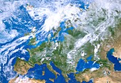 Europe from space,illustration
