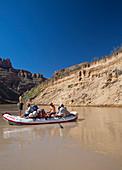 Tourists rafting,USA