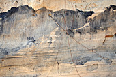 Titanium deposits on a beach