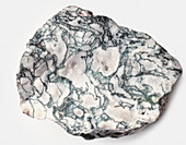 A piece of moss agate,close-up