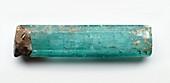 Hexagonal aquamarine crystal of emerald