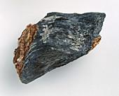 Jamesonite in rock groundmass,close-up