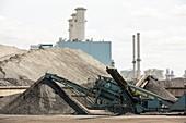 Coal on the docks in Hull