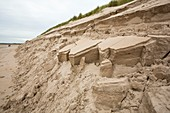 Dunes collapsing