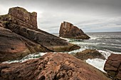 The famous split rock of Clachtoll