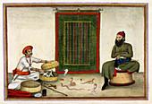 Animal conjuror in India,1820s