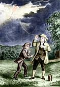 Franklin's lightning experiment,1752