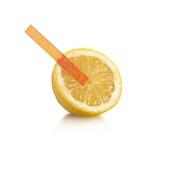 Universal indicator test on a lemon