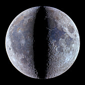 Moon's phases,optical image
