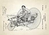 Velocipede patent,1887