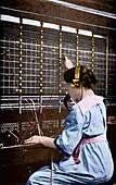 Telephone switchboard operator,1914