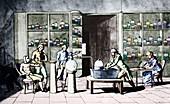 Lavoisier respiration experiment,1770s