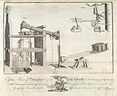 Steam-powered mine engine,1778