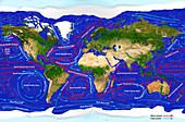 Ocean Currents,illustration